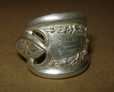 """Vintage 1847 Rogers Bros. Silver Plate """"Old Colony 1911 Ring Spoon"""" Size 4 1/2"""