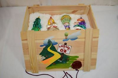 Wizard of Oz Polonaise Collection 4-Pc MINT Blown Glass Ornaments Box 1100-9-13