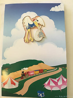 Disney BABY DUMBO & STORK Greeting Card Pin and Card Dumbo the Flying Elephant