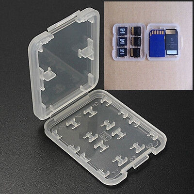 8 Slot 1*Micro SD TF SDHC MSPD Memory Card Protecter Box Storage Case Holder New