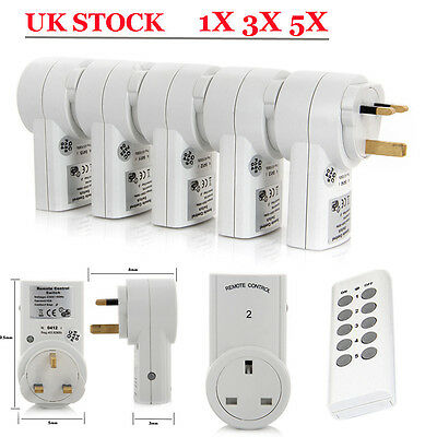 UK Stock Remote Control Sockets Wireless Switch Home Mains Plug AC Power Outlet