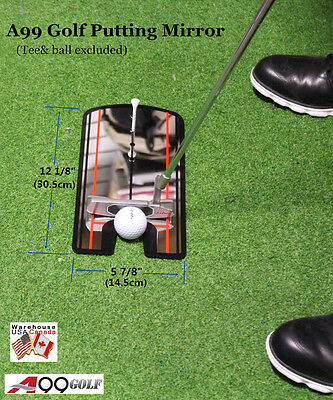 A99 Golf Putting Mirror Training Alignment Practice Aid Portable
