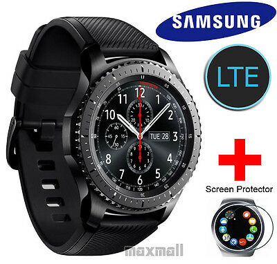 Samsung Gear S3 Frontier LTE SM-R765 Smart Wrist Watch + Free 2 Screen Protector