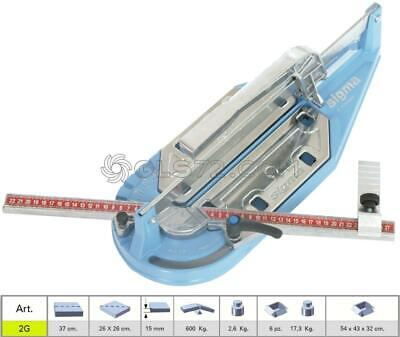 TILE CUTTER MACHINE MANUAL PROFESSIONAL SIGMA 2G CUTTING LENGHT 37 cm ( 370mm )