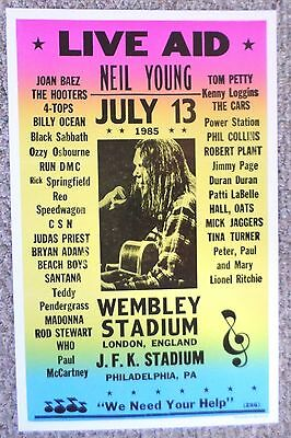 Live Aid with Neil Young at Wembley Stadium Poster Print
