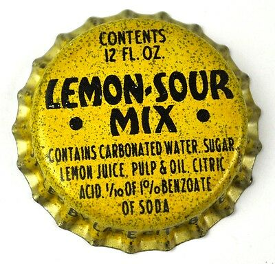 Lemon Sour Mix Soda Kronkorken USA Soda Bottle Cap Korkdichtung