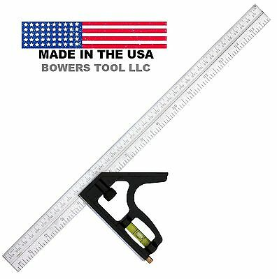 Johnson Professional 16in SAE English Metric Steel Combination Square 420EM USA