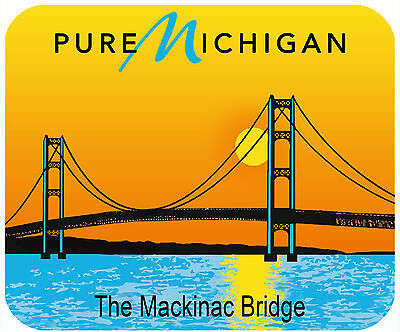 Mouse Pad Custom Thick Mousepad-Michigan Mackinaw Bridge License Plate Theme