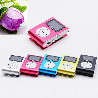 Mini USB Clip MP3 Player LCD Screen Support 32GB Micro SD TF Card With Earphone