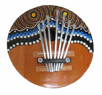 DOT-PAINTED COCONUT THUMB PIANO CALIMBA KALIMBA MBIRA MARIMBA KARIMBA OKEMA new