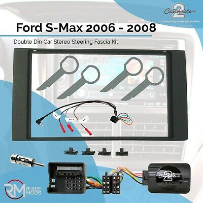 FORD FOCUS 05/> CMAX 05/> DOUBLE DIN FACIA FASCIA PLATE 2 DIN FITTING KIT CT23FD04