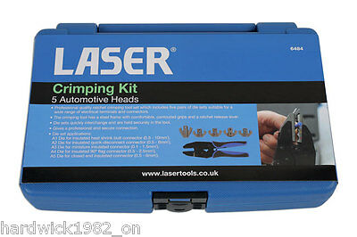 LASER 6484 Crimping Kit - 5 Automotive Heads