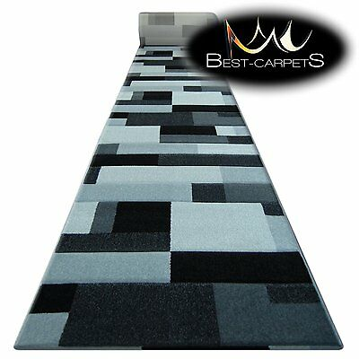 Runner Rugs, PILLY 8403 black/silver, modern, Stairs Width 70cm-120cm extra long