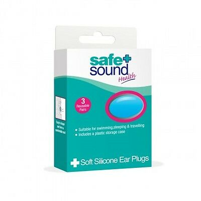 Soft Silicon Earplugs 3 Pairs