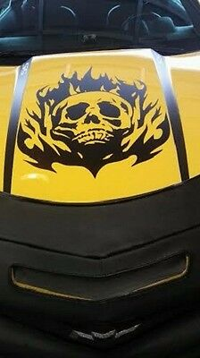 "Skull Hood Decal Large 36/"" Graphic Sticker for Truck Jeep Car Trailer Boat Vinyl"