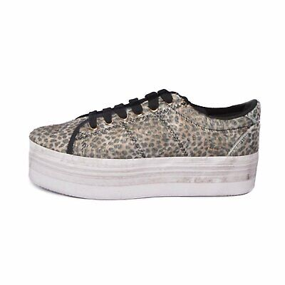 JEFFREY CAMPBELL JC PLAY scarpe donna ZOMG PONY LEOPARD - BEIGE / BLACK White