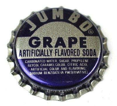Jumbo Grape Soda Kronkorken USA Bottle Cap Plastikdichtung