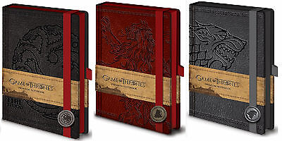 Officiel Game Of Thrones Premium Bloc-notes Carnet Bloc note Look Cuir TV Cadeau