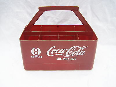 Vintage Coca Cola 8 One Pint Bottles Plastic Carrier