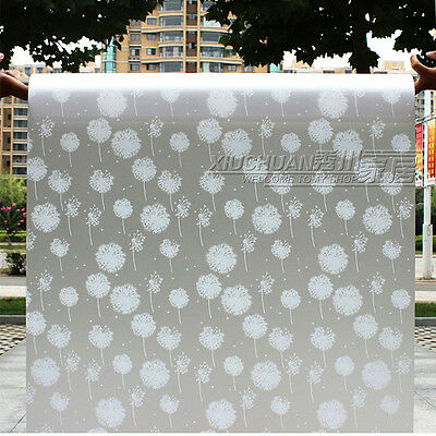 2M Dandelion Privacy Frosted Static  Bedroom Bathroom Glass Window Film
