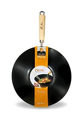 NEW Ken Hom Everyday 31cm Carbon Steel Non-Stick Wok