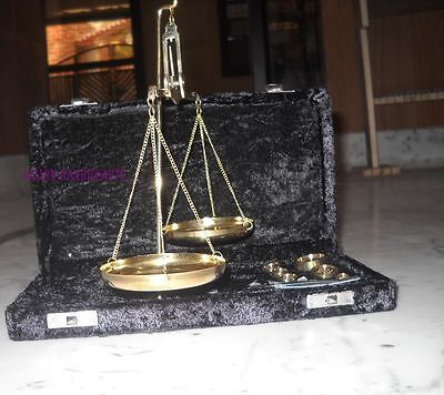 Vintage Nautical Weight Scale With Box -Antique Weighing Balance Scale