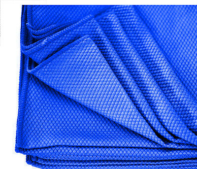 6 blue diamond weave microfiber glass detailing cleaning lintfree towels 16x16
