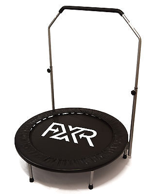 """Fxr Sports Mini Trampoline Jumper Cardio Fitness Exercise With Handle - 40"""" 48"""""""