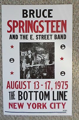Bruce Springsteen and The E. Street Band playing at The Bottom Line Poster Print
