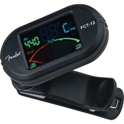Fender FCT-012 Colour Clip-On Chromatic Guitar & Bass Tuner Colour LED Accurate