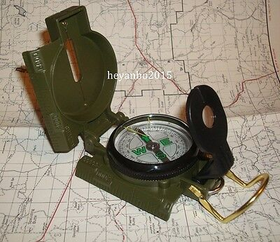 Vietnam War Us Army Military M-1950 Lensatic Compass Outdoor Hiking