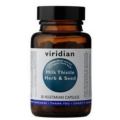 Viridian Milk Thistle Herb/Seed Extract 30 Veg Capsules