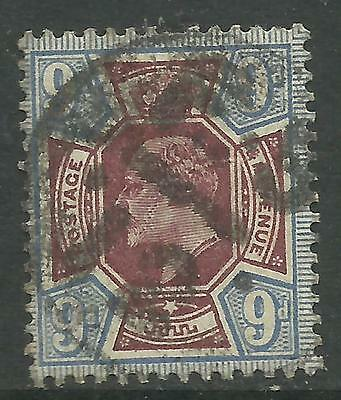 GREAT BRITAIN KING EDWARD VII KEVII 9d BLUE & PURPLE Used (No 2)