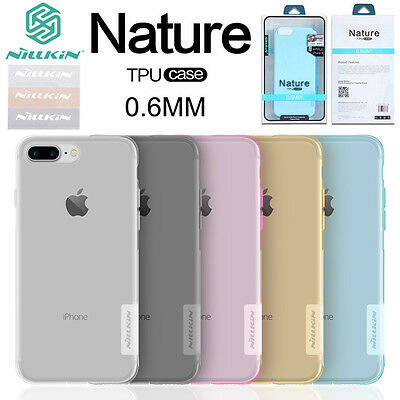 For iPhone XS Max XR 8 7 6S Plus 5S NILLKIN 0.6mm Nature Silicone Soft TPU Case