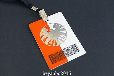 The  Avengers Of S.h.i.e.l.d Shield Secret Base Id Card Passport With Lanyard