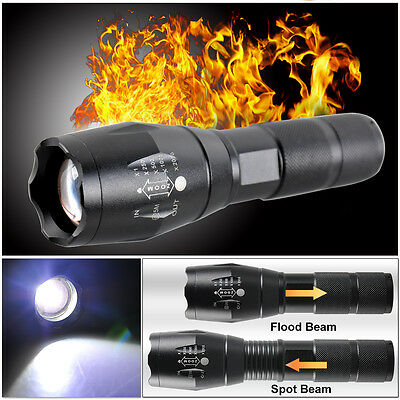 5000LM CREE T6 LED Flashlight Zoomable Waterproof Torch Bike Light Lamp Focus UK