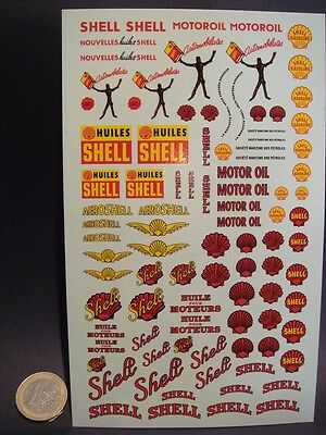 """Decals 1/43 - 1/32 - 1/24 Anciens Logos """" Shell """" - T327"""