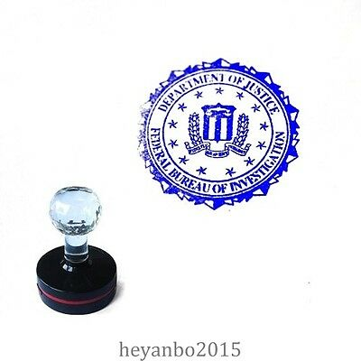 Us Fbi Department Of Justice Photosensitive Seal Stamps Blue