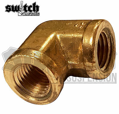 Brass Pipe Fitting 1/4 NPT Female Elbow Forged Connector Coupling