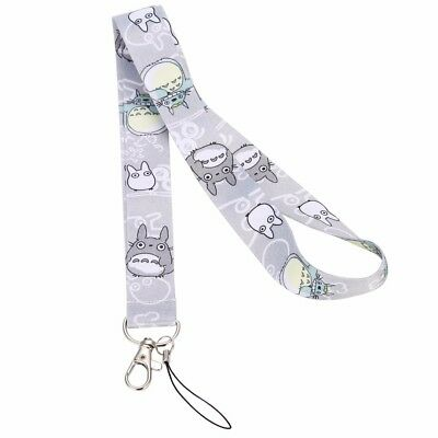 Cute Anime Totoro Neck Strap Lanyard Cell Phone ID Card Keychain Key Ring Gift