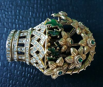 """HALCYON DAYS """"TREASURES FROM CHATSWORTH"""" Brooch Pin, from Duchess of Devonshire."""