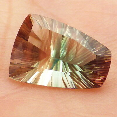 GREEN DICHROIC SCHILLER OREGON SUNSTONE 4.67Ct FLAWLESS-AMAZING COLOR+SCHILLER!