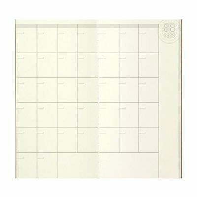 1 X Midori Travelers Notebook refill 017 Monthly Diary