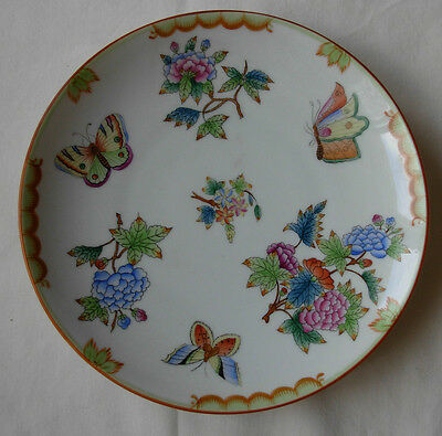 """HEREND QUEEN VICTORIA PLATE --- 19.5 cm. -- 7.3/4"""" -- DATED 1943 -- #1"""