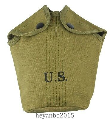 Vietnam War Us Army Military Canteen Cover M1956 Bag
