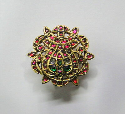 Rare! Vintage Antique Ethnic Tribal 22K Gold Silver Hair Ornament South India