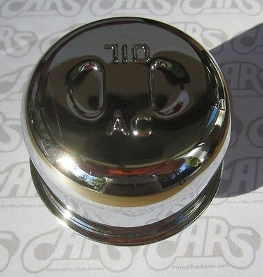 1936-1969 GM Chrome Oil Breather Cap. Twist Style. Riviera, GS, Pontiac. 6410204