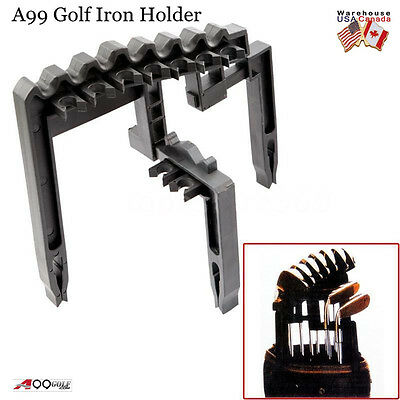A99 Golf 9 Iron Club Holder Black Universal Tool, Organize Irons clubs Above Bag