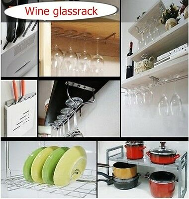 "Wine Glass Wall Rack Holders Hanger glassrack Cup Kitchen Bar 12"" 15 3/4"""