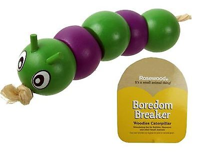 Rosewood BOREDOM BREAKER Woodies Caterpillar Toy - Rabbit Guinea Pig Chinchilla